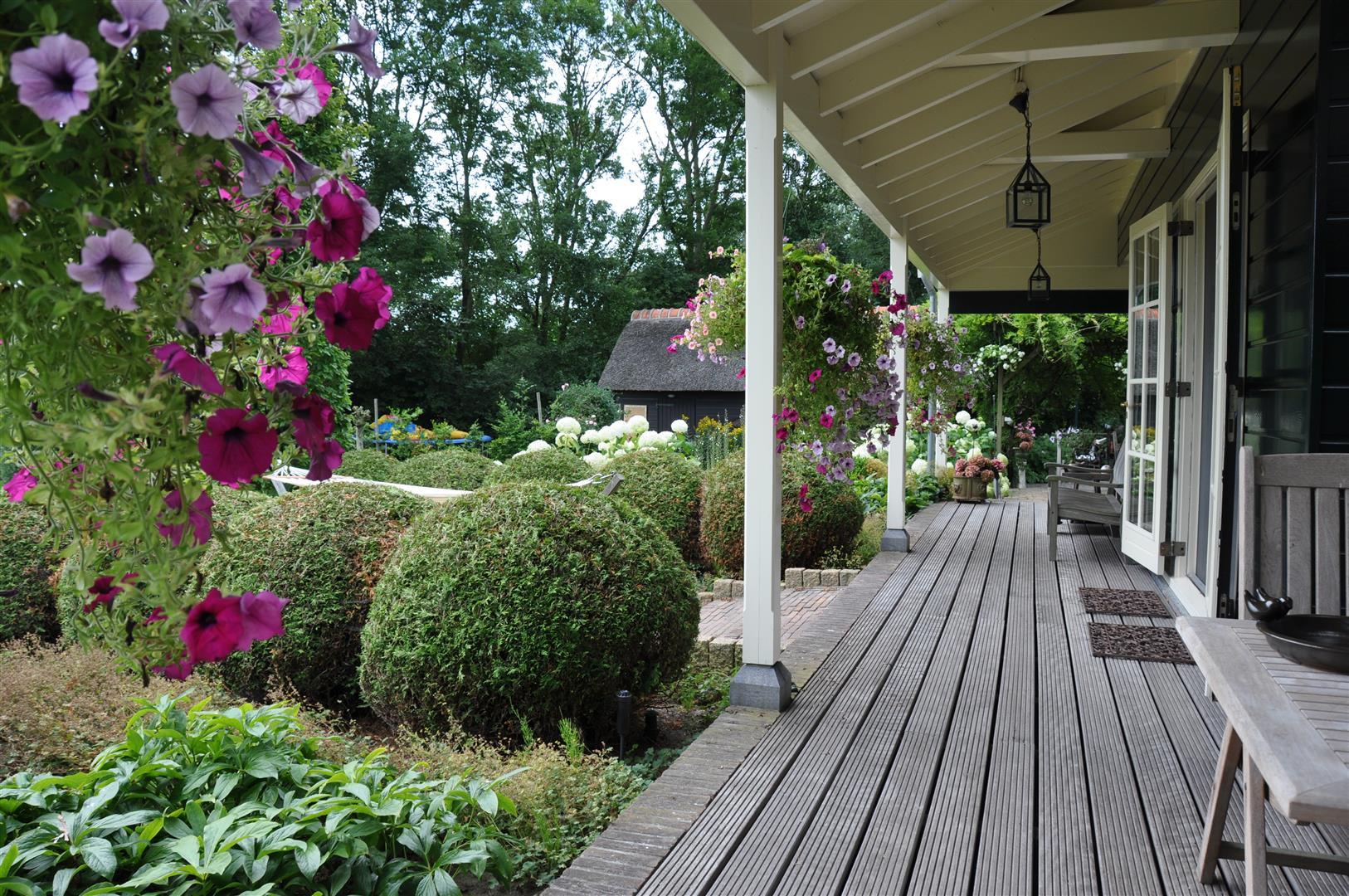Sfeervolle met riet gedekte landelijke woning op m grond h3 landelijk vastgoed - Veranda met dakraam ...